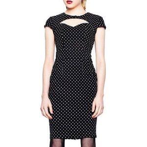 Hell Bunny Vixen Black White Polkadot Sandy Dress